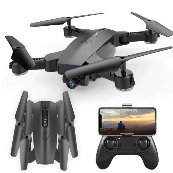 S6 SGOTA RC Drone with Dual 720P HD 2mp Cameras Foldable FPV WiFi RC Quadcopter 2.4Ghz Remote Control Drone with Follow Me Mode Double battery