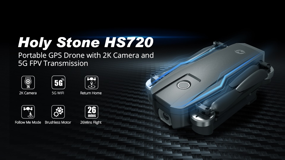 Holy Stone HS720 Portable GPS Drone