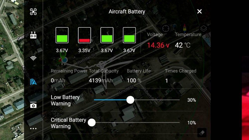 phantom 4 battery charging errors